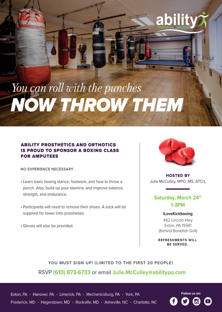 Ability Sponsored Boxing Class
